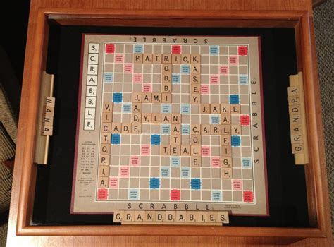 make a scrabble board with names pin by justine vanderzwaag on
