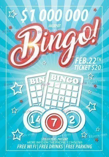bingo card template psd bingo psd flyer template 16847 styleflyers