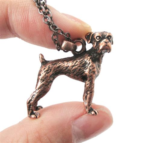 copper drum shaped pendant l for charming living room ideas 3d detailed boxer dog animal charm dog lover themed