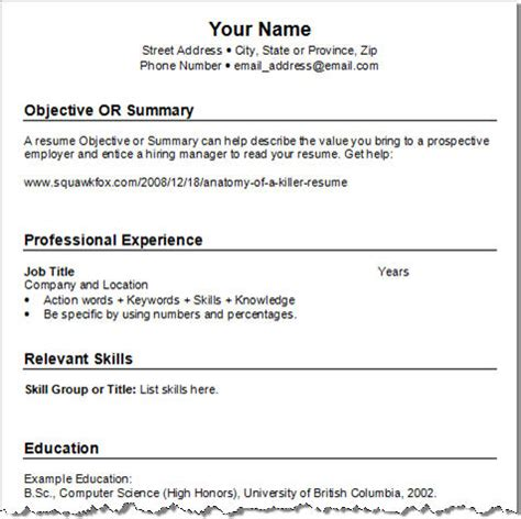 Resume template chronological free resume templates0 jpg