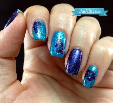 hibiscus nail art tutorial water hibiscus flower nail art chickettes soak off