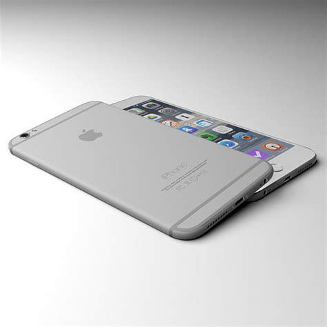 apple iphone 6 grey 3d cgtrader