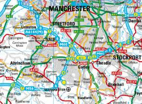 manchester map and manchester satellite image