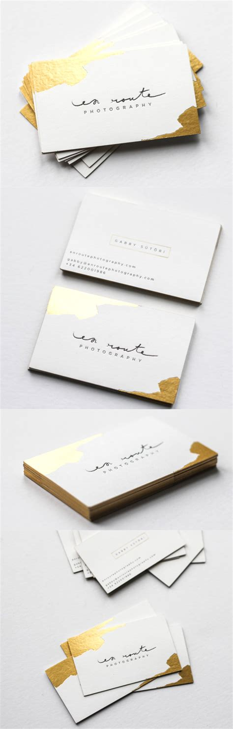 business cards with gold foil luxurious gold foil accented business card for a