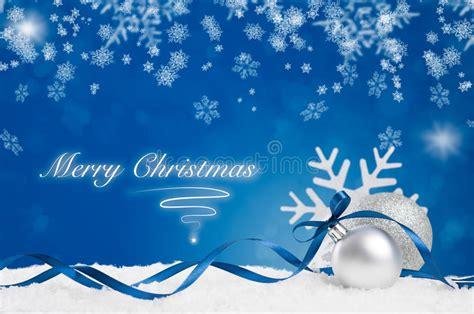 blue merry christmas stock image image  silver xmas