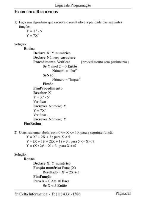 Apostila: Lógica de programação