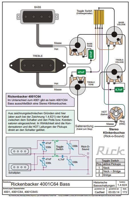 ric bass wiring diagrams talkbass