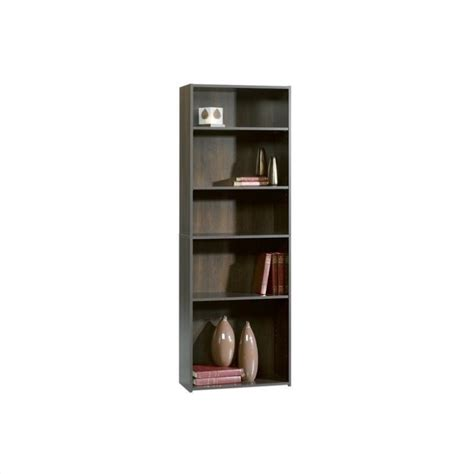 Sauder Beginnings 5 Shelf Bookcase In Cinnamon Cherry Sauder Beginnings 5 Shelf Bookcase
