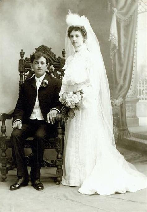 Wedding Portrait by Wedding Portrait Of George And Eleanor Hirsch Ca 1895