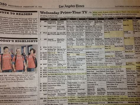 los angeles times calendar section franklin avenue l a times eliminates tv listings in
