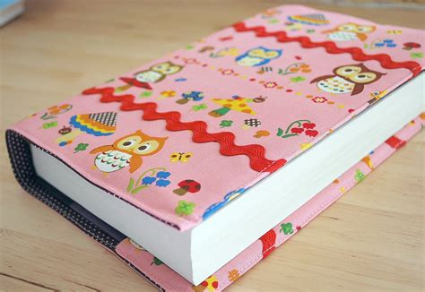 pattern fabric book cover 33stitches book cover tutorial image heavy