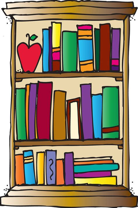 bookshelf clipart clipartion