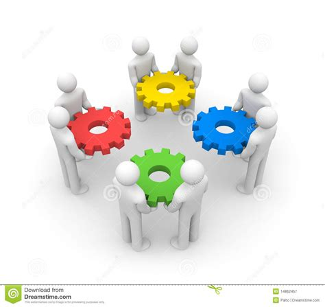 Teamwork Stock Illustration Illustration Of Gear Evolution 14862457 Free Teamwork Images