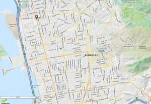 where is berkeley california on a map berkeley ca