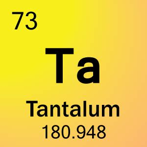 Number Of Protons In Tantalum in each atom tantalum has 73 protons and electrons whic