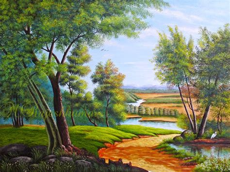 acrylic painting nature landscape painting