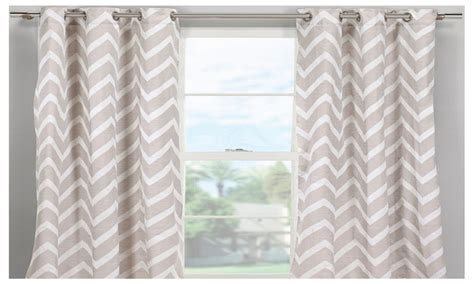 grommet chevron curtains set of 2 chevron grommet curtain panels groupon