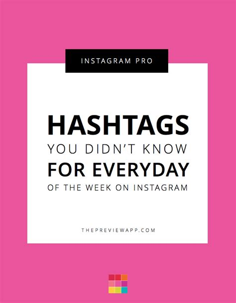 design instagram hashtags the best hashtags for everyday of the week on instagram