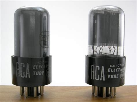 6146 Match Pair Rca rca 6sn7gt gray glass matched pair