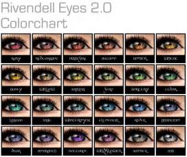eye colors list fashions to rivendell we go