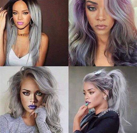coloring gray hair red afro hair trends 2016 afro hair 25 new gray hair color long hairstyles 2016 2017