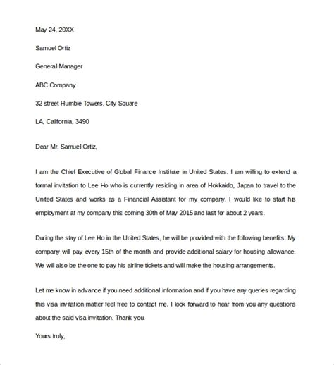 business invitation letter templates ms