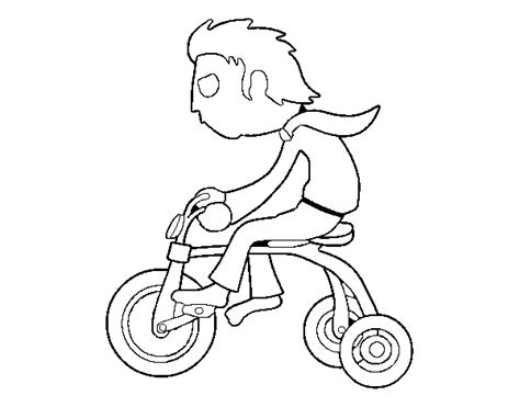 tricycle coloring pages preschool tricycle coloring page boy