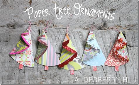 paper christmas ornaments patterns 30 handmade trees