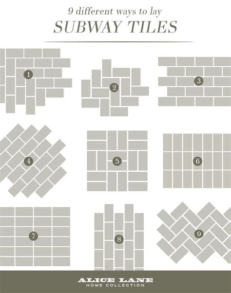 subway tile design best 25 subway tile patterns ideas on pinterest tile