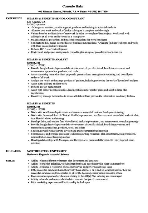 highly adaptable resume health benefits resume sles velvet