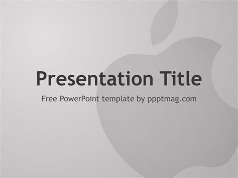 Free Apple Powerpoint Template Pptmag Apple Powerpoint Template