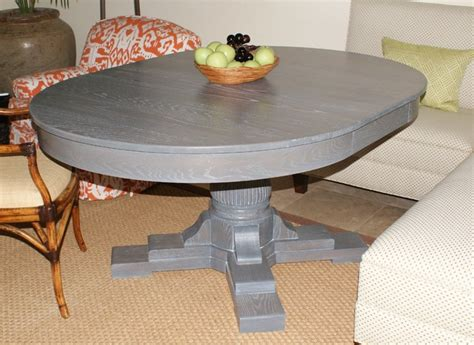 Gray Kitchen Table by Grey Oak Table Eclectic Dining Tables Jacksonville