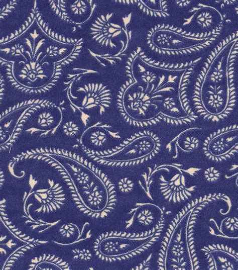 western print upholstery fabric western fabric paisley print on blue flannel jo ann