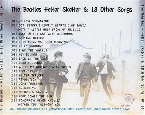 Atasan Back Helter Af beatles helter skelter 18 other songs 1cd giginjapan