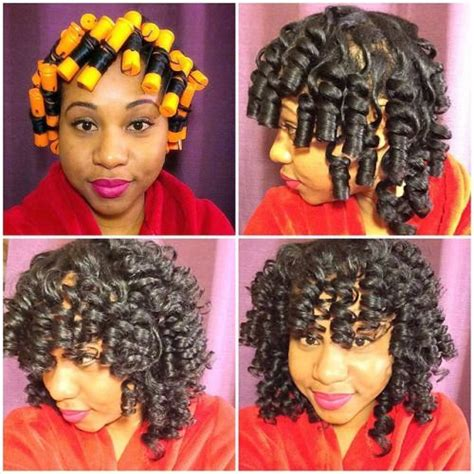 how your hair is addicted to perms 183 best natural hair roller set images on pinterest