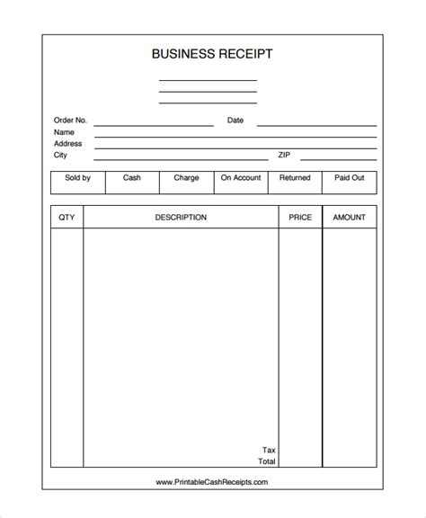business receipt template blank lawn care templates free studio design gallery