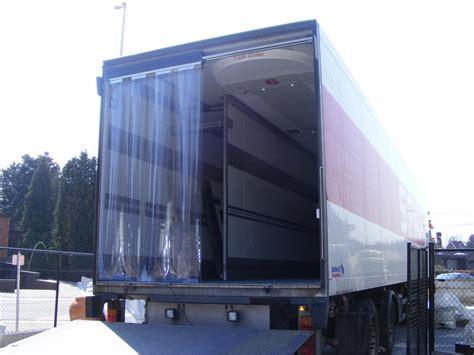 trailer curtains strip door curtains for refrigerated trailers krautz temax