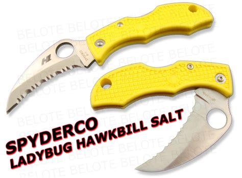 spyderco ladybug hawkbill spyderco ladybug 3 hawkbill salt h1 serrated lyls3hb ebay