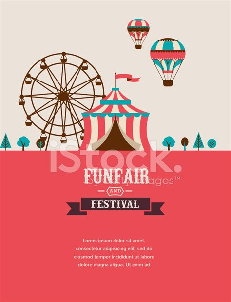 Vintage Home Decoration by Vintage Poster With Carnival Fun Fair Circus Vector