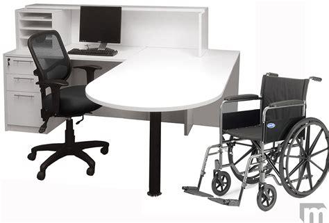 ada reception desk requirements white ada reception desk