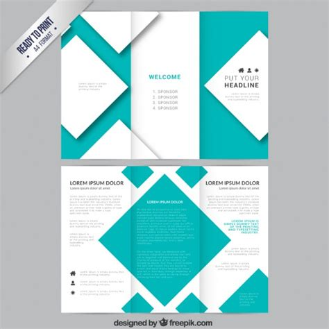 template brochure brochure template with squares vector free