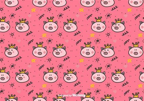 pattern princess vector princess pigs vector pattern download free vector art