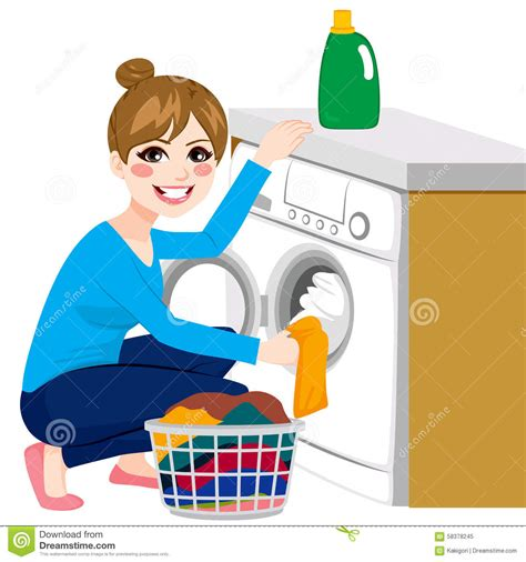 cloth laundry hers doing laundry stock vector image of beautiful
