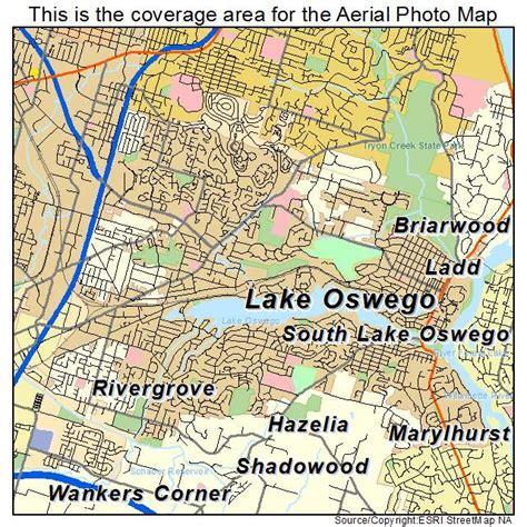 map of oregon lake oswego aerial photography map of lake oswego or oregon
