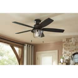 Small Outdoor Ceiling Fan With Light Shop Allegheny 52 In New Bronze Outdoor Flush Mount Ceiling Fan With Light Kit At Lowes