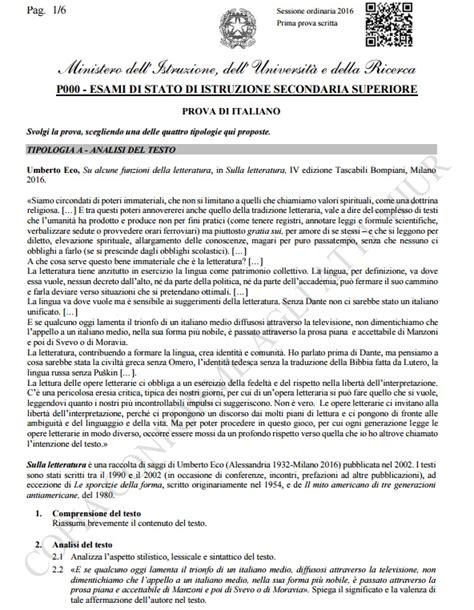 analisi testo maturit maturit 224 2016 analisi testo brano di umberto eco