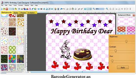 Custom Birthday Card Maker Birthday Cards Maker Software Colorful Custom Love Charity