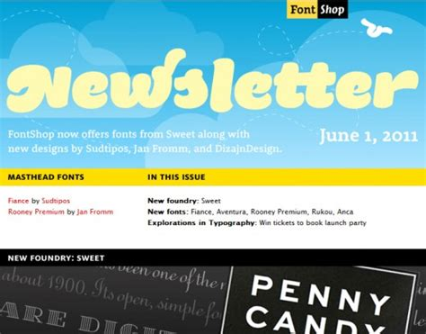 font newsletter design a collection of email newsletter designs for your