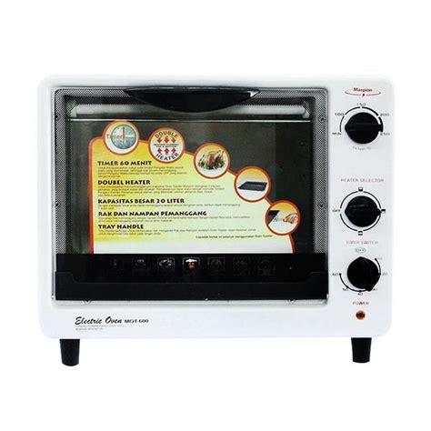 Oven Listrik Dengan Watt Kecil jual maspion mot 600 oven toaster listrik 20 l