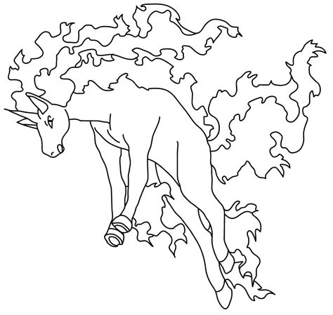 realistic pokemon coloring pages rapidash lineart by sarah the monkey on deviantart
